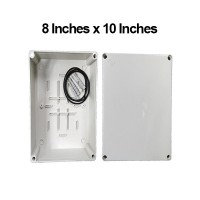8 Inches x 10 Inches ( 200mm x 250mm x 110mm ) Waterproof PVC Electric / Weatherproof Electronic Project Enclosure Junction Box / Case LittleThingy