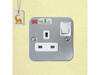 UMS 13A 1 Gang Metal Clad Switch Socket (SIRIM Approved) 1213M LittleThingy