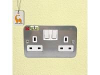 UMS 13A 2 Gang Metal Clad Switch Socket (SIRIM Approved) 2213M LittleThingy