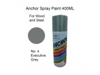# 4 Executive Grey Standard Colour 400ml For Wood Metal and Concrete Anchor Brand Aerosol Spray Paint LittleThingy
