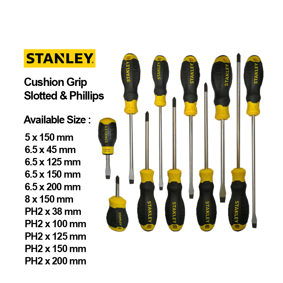 Stanley Cushion Grip Slotted and Phillip